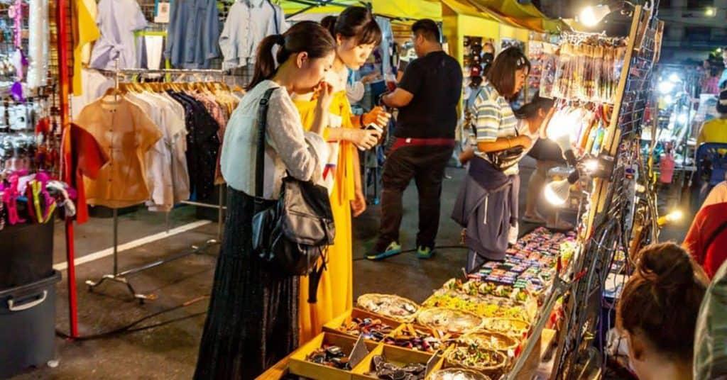 Shopping at Krabi Night Market